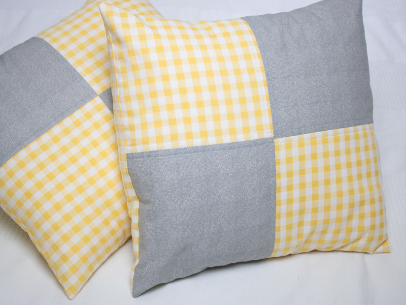 Four Square Quilted Cushions